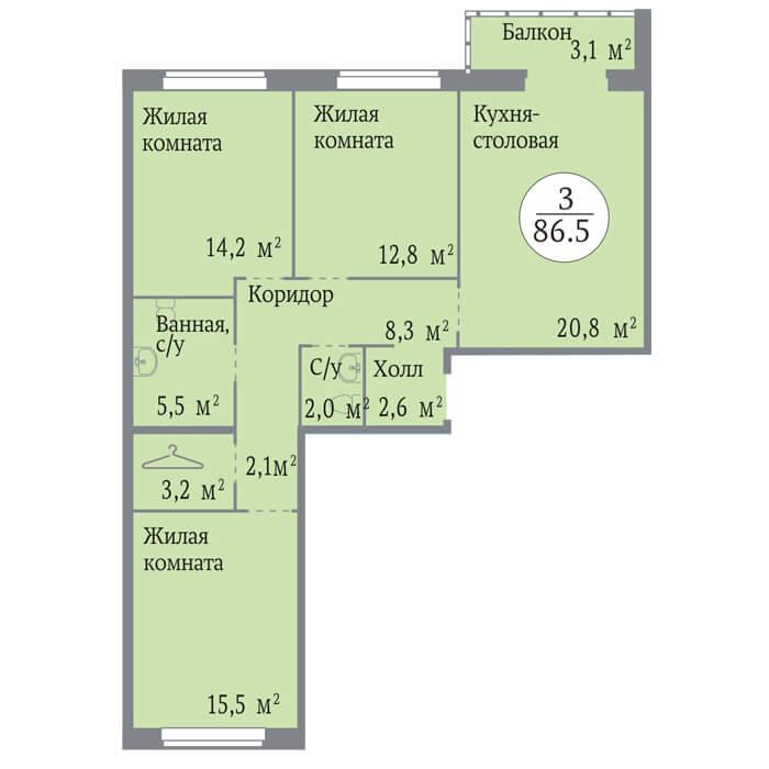жк ньютон планировки и цены