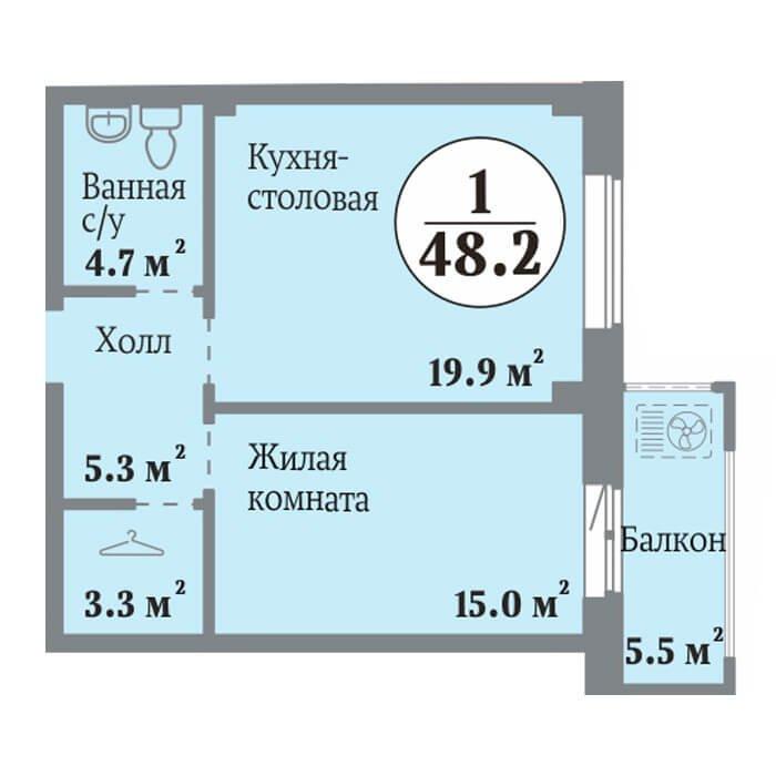 Одна из последних! 1-комнатная квартира, СТУДИЯ+1 в самом уникальном доме ЖК Ньютон. Парк во…