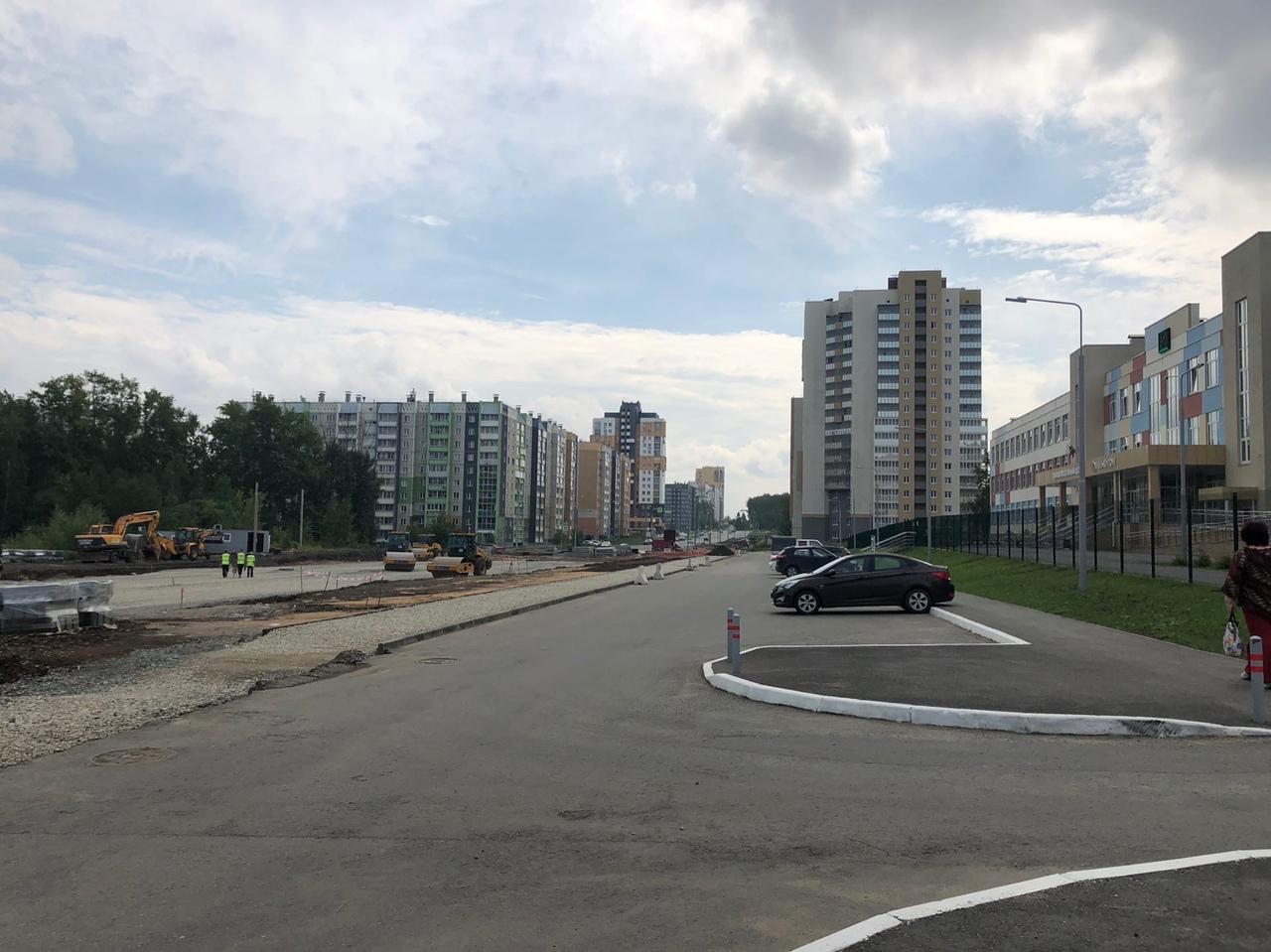 Активно ведётся строительство дороги 250 лет Челябинска, напротив муниципальной школы в ЖК «НЬЮТОН» #жк_ньютон…