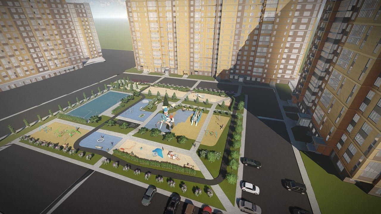 Проект двора жилых домов 20 микрорайона 8, 9 и 10 в ЖК «НЬЮТОН» (…